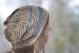 Joyful hat in a trellis technique