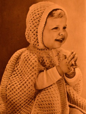 "This is from ""Alt for Damene Babystrikk"", a knitting magazine from the '50s."