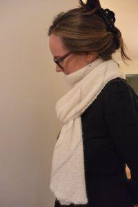 Angora pinstripe scarf