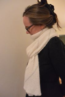 A diagonal scarf from Purl Soho
