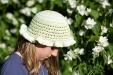 A crochet summer hat