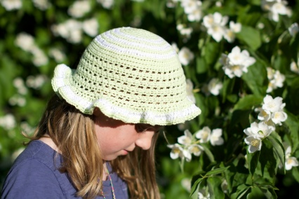 A crochet summer hat